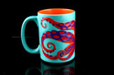 Lovely Embossed Octopus Mug Coffee Mug