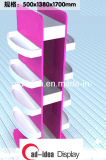 MDF Retail Shop Floor Display Rack Painting Storage Shelves