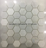 Crystal White Hexagon Marble Mosaic Tile