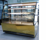 High Volume Curved Glass Dry Bakery Display Showcase