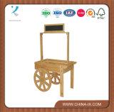 Wooden Vendor Cart with Chalkboard Header