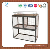 Floor Standing Display Unit with Wire Rack