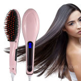 2017 Electric LED Hair Straightener Brush for Straightening Hair