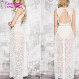 Sexy Hollow out Lace Elegant Maxi Dress L5015