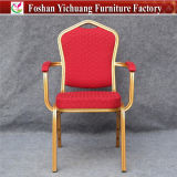 Modern Metal Stacking Restaurant Arm Chair Yc-D102-4