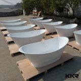 Kingkonree White Marble Free Standing Stone Bath Tub