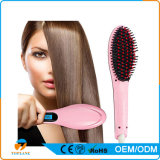 Personal Use Digital Hair Straightener Comb and Electric Hair Styling Brush Ionic Hair Straightener Brush