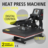 "15"" X 15"" Semi-Automatic Auto Open T-Shirt Heat Transfer Press Magnetic Sublimation Machine"