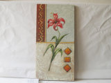 Red Lily Pattern Home Decorative Canvas Hanging Painting