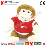 Valentine′s Day Gift Soft Toy Monkey in Cloth