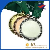 Wholesale Round Metal Blank Gold Silver Copper Medal with Ribbon