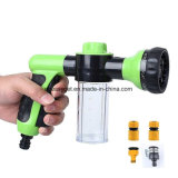 Garden Hose Nozzle Hand Sprayer, Heavy Duty High Pressure Water Sprayer Gun W/ Pistol Grip Trigger, 8 Adjustable Patterns Best for Hand Watering Plants & Lawn
