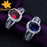 Stsr-16113015 Couples with Stone Sterling Silver Gemstone Rings