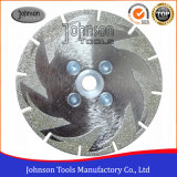 105-300mm Single Side Maple Leaf Electroplated Diamond Saw Blades for Marble and Granite Cutting
