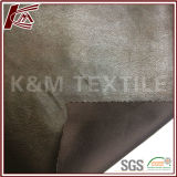 100% Polyester Brown Light Suede Fabric