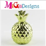 Green Decoration Pineapple Shaped Ceramic Money Bank