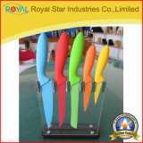 Factory Supply 6PCS Stainless Steel Kitchen Knife Set with Acrylic Holder (RYST0114C)