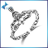 925 Sterling Silver for Women Stripe Ring Fashionable Jewelry Bird Animal Rings