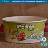 Disposable Paper Bowl for Ice Cream with Lid