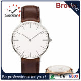 Genuine Leather Strap Dw Stylish Watch Quartz Watch for Men and Women (DC-1407)