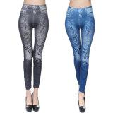 Elegant Printing Long Pants Jean Leggings