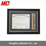 A3/A4 Wooden Certificate Photo Frame with Gold Trim