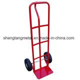 600lb Heavy Duty Sack Truck Industrial Hand Trolley with Pneumatic Tyre Wheel
