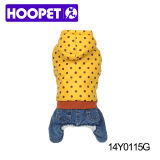 Yellow Dog Puppia Dog Clothes with Dots and Pants
