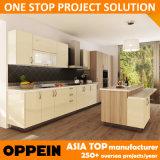 Oppein Fast Delivery Melamine Laminate Wood Wholesale Kitchen Cabinet (OP14-K004)