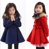 Girl′s Korean Thick Woolen Coat in Fall and Winter Clothes