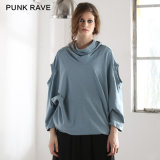 PT-058 Punk Rave Long Batwing Over Size Knit Top Casual Cotton Long Sleeve T-Shirt
