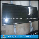 Full Polished Bullnose China Absolute Black Granite Stone Stairs Steps