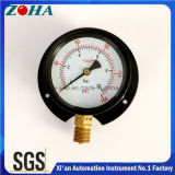 Double Scale Back Flange Water Pressure Gauges with Black Steel Case Brass Internal