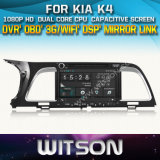 Witson Car DVD Player with GPS for KIA K4 (W2-D8584K) Touch Screen Steering Wheel Control WiFi 3G RDS