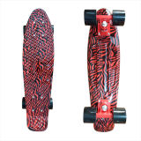 22inch PP Mini Skateboard Cruiser Complete Skateboards Banana Skateboard Red Zebra Design-3
