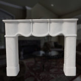 Simple Style Morden Stone White/Grey Marble Fireplace Mantel for Home