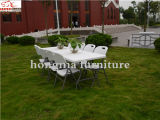 8ft Plastic Folding Straight Table for 10 People
