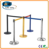 Stainless Steel Bank Retractable Belt Barrier with Cement Base