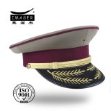 High Quality Fashion Custom Made Gold Embroidery Military Colonel Headwear