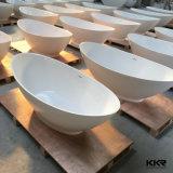 Vietnam Project Matt White Solid Surface Freestanding Bathtub