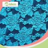 blue Flower Pattern Border Embroidered Dress Lace Clothing