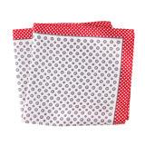 Luxury Silk Polyester Dots Plaid Flower Printed Pocket Square Hanky Handkerchief (SH-95)