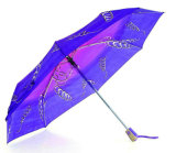 Print Polyester 3 Fold Open&Close Windproof Umbrella (YS-3FD22083507R)