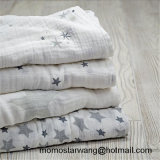 Printing Soft Baby Swaddle Blanket Made of Muslin Cotton