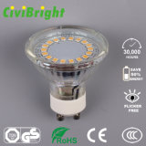 7W GU10 Glass COB / SMD 2835 LED Spotlights