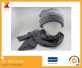 Winter Men′s Set 2 Pieces Jacquard Scarf