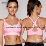 High Quality Fitness Black Cotton Hot Sex Women′s Sport Bra