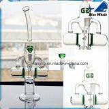 Glass Smoking Water Pipe Vaporizer with Three Round Perc