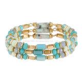 Fashion Blue Beads Bracelets Jewelry for Women Gift
