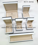 Matte Lamination Black Wood Fashion Jewelry Packing Set Box
